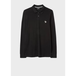Paul Smith Long Sleeve Zebra Polo Shirt Black