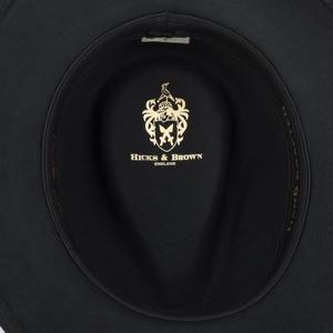 Hicks & Brown Suffolk Fedora-Guinea Wrap Black