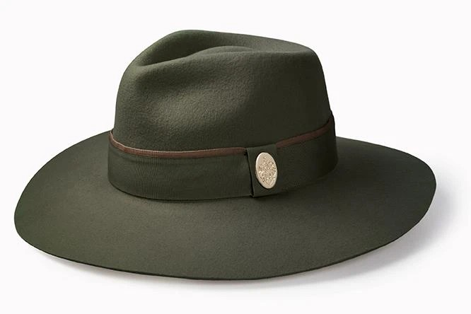 Hicks & Brown The Oxley Fedora Olive Green