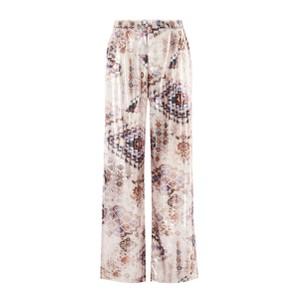Verano Printed Wide Leg Trousers Beige/Multi