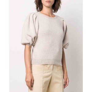 Short Balloon Sleeves Sequin Knit Anthracite