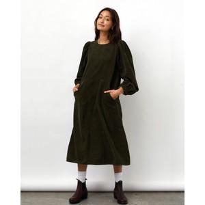 Lucas Long Sleeve Cord Dress Dusty Green