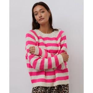 Jobel Stripe Jumper Neon Pink