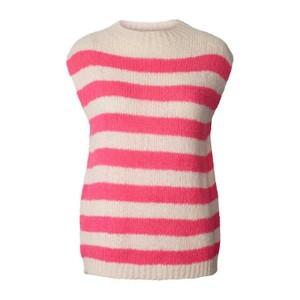 Rosa Mock Neck Knit Vest Neon Pink