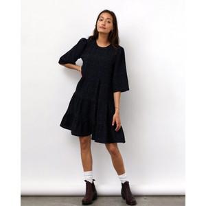 Lani Tiered Midi Dress Black/Blue