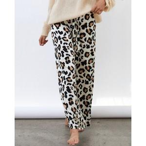 Vicky Wide Leg Trousers Leopard