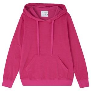 Rib Hoodie Neon Pink