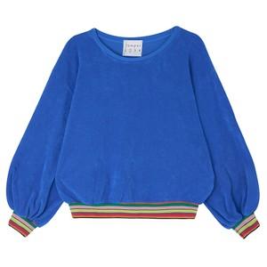 Terry Stripe Hem Sweater Bright Blue/Multi