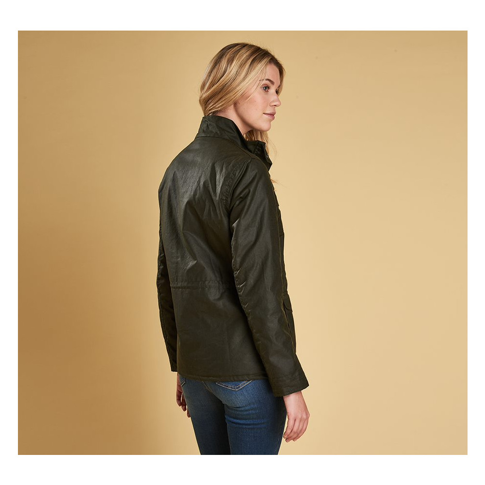 Barbour Rhossili Wax Jacket Fern