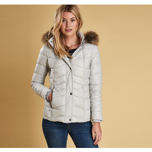 Bernera Quilt Jacket Ice White