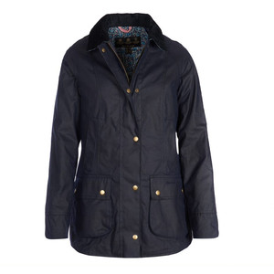 Barbour Abbey Wax Jkt Royal Navy