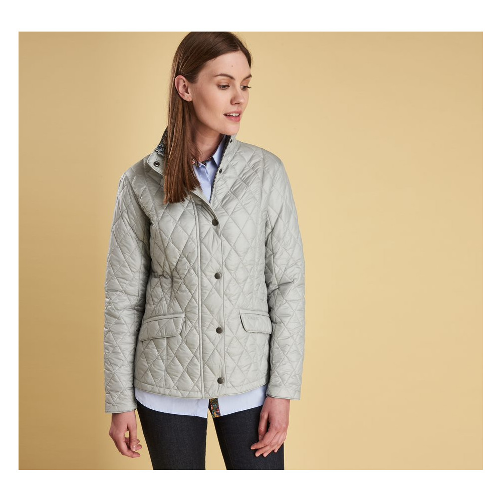 Barbour Victoria Quilt Jacket Ice White