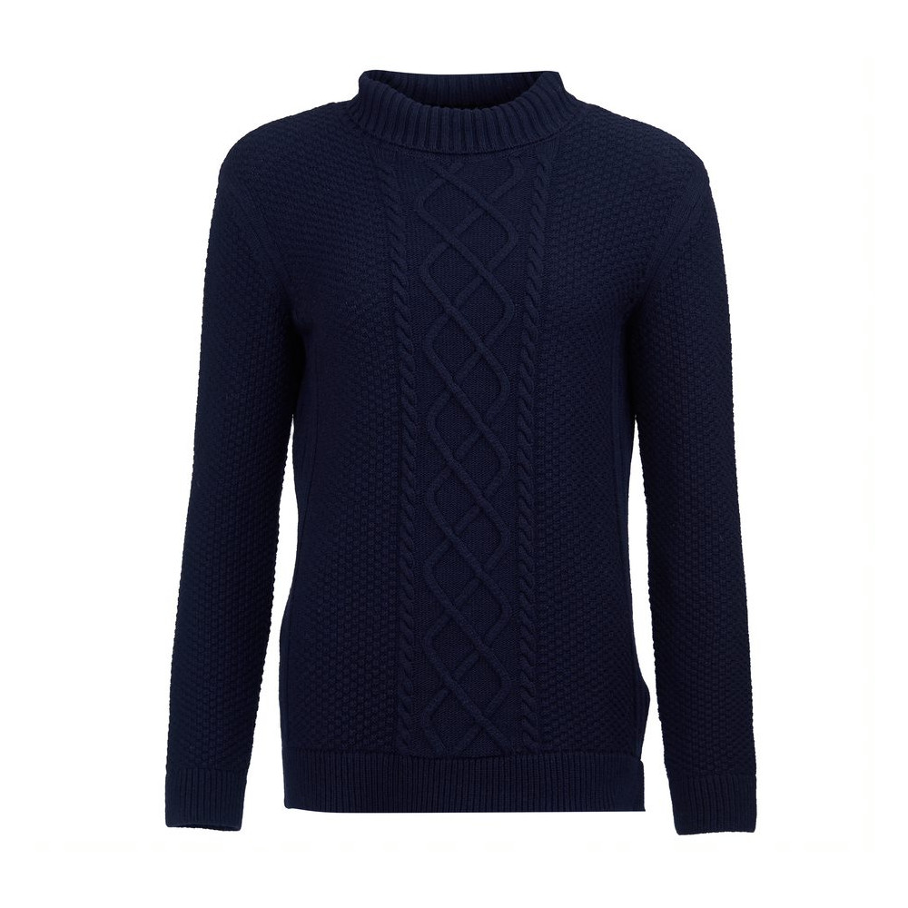 Barbour Leith Roll Collar Knit Navy