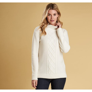 Leith R/Collar Knit Off White