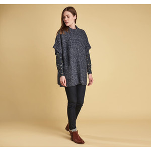 Barbour Malvern Cape in Navy Marl