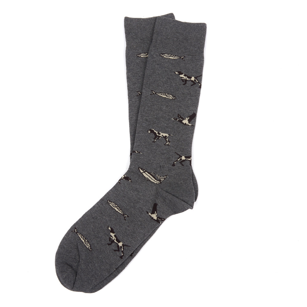 Barbour Animal Mix Socks Charcoal