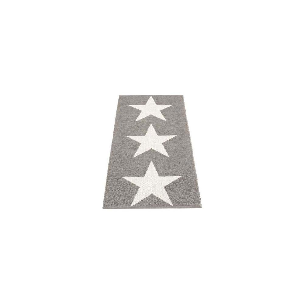 Pappelina Viggo Star Reversible Rug - 70 x 150 Mud Metallic/Vanilla