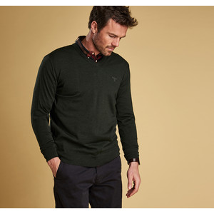 Merino V Neck Jumper Forest