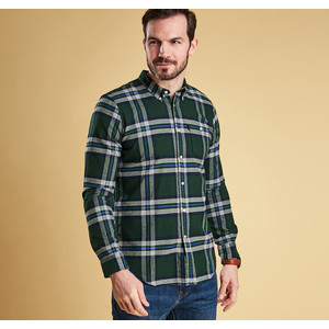 Ashwood Slim Shirt Highland Check Seaweed