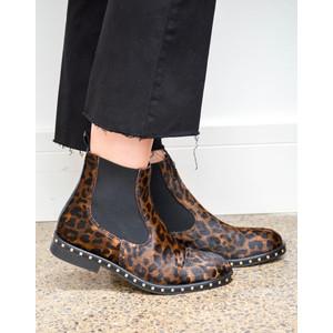 Leopard Ankle Boot Fur