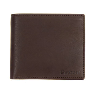 Billfold Wallet Grain Leather Dark Brown