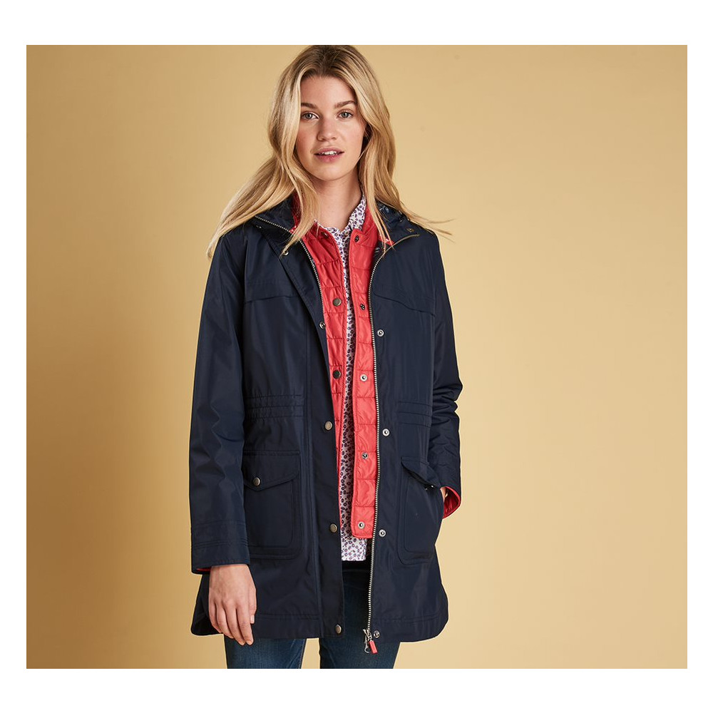 Barbour Clovelly Jacket Navy/Red