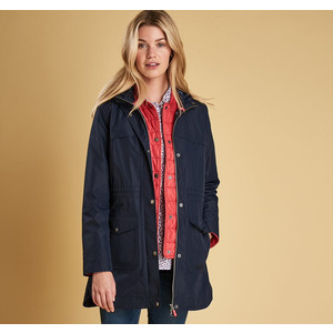 Clovelly Jacket Navy/Red