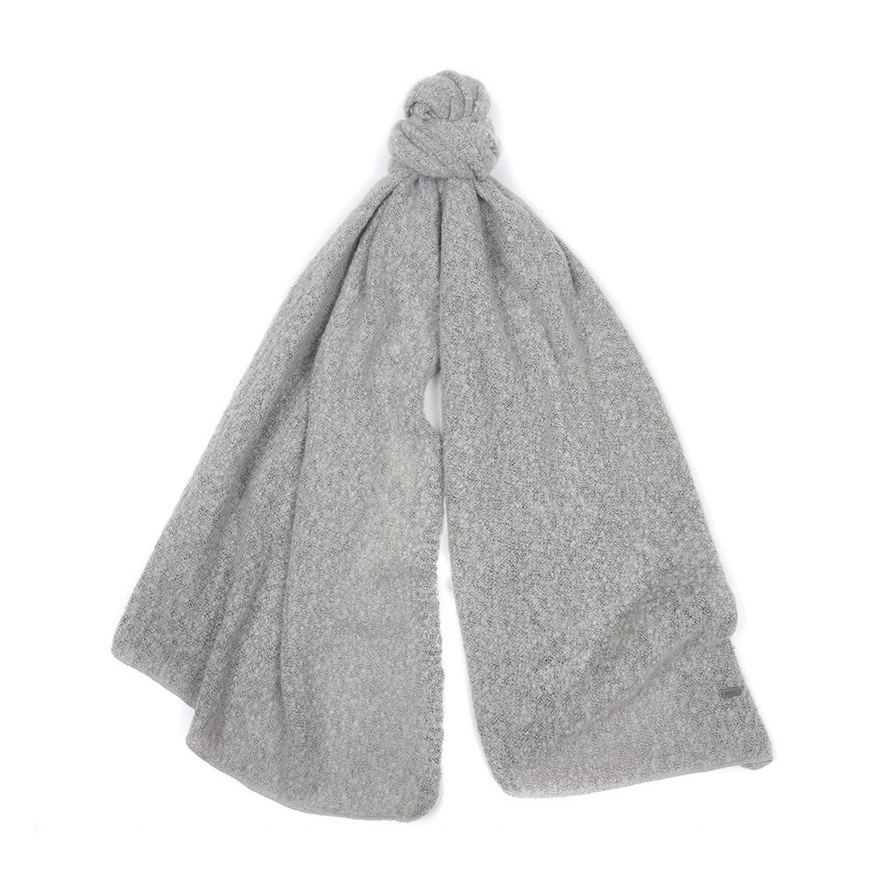 Barbour Plain Boucle Scarf Ash Grey