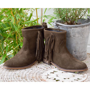 Audrey Tassle Boot Dark Green