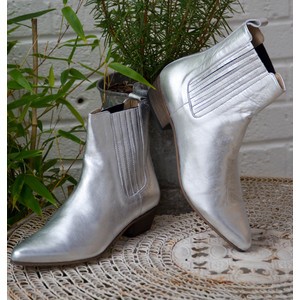 Bailey Metallic Boot Silver