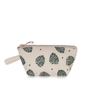 Jungle Leaf Mini Pouch Natural