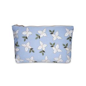 Jasmine Wash Bag 100% Cotton Chambray
