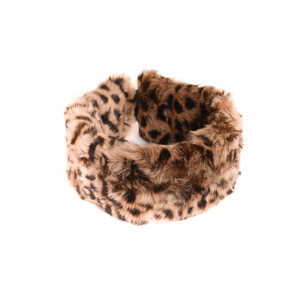 Fur Headband Leopard