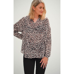 Sofia Leopard Top Brown
