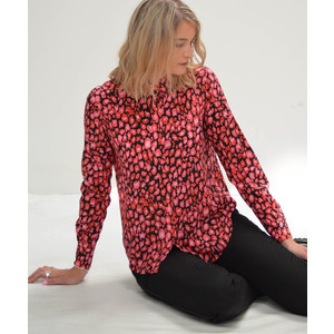 Gail Leopard Shirt Red