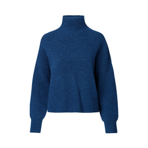Nola Turtle Neck Knit Jumper Blue Depths Melange