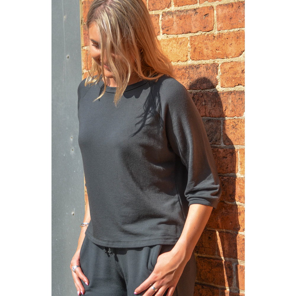 Velvet Adette Sweater Mid Sleeve Army