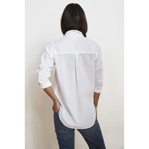 Velvet Candra Long Sleeve Shirt White