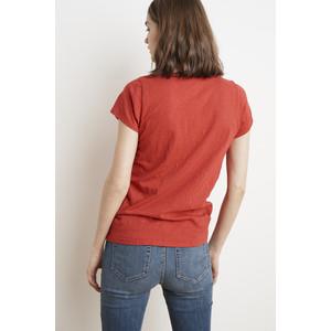 Velvet Jilian V-Neck Short Sleeve Tee Cherry Blossom