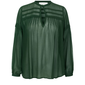 Vermis Top with Pleat Detail Green