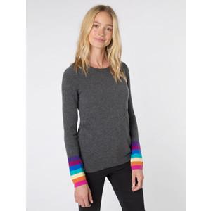 Ines Rainbow Cuff Knit Charcoal