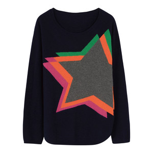 Estelle Star Jumper Navy/Multi