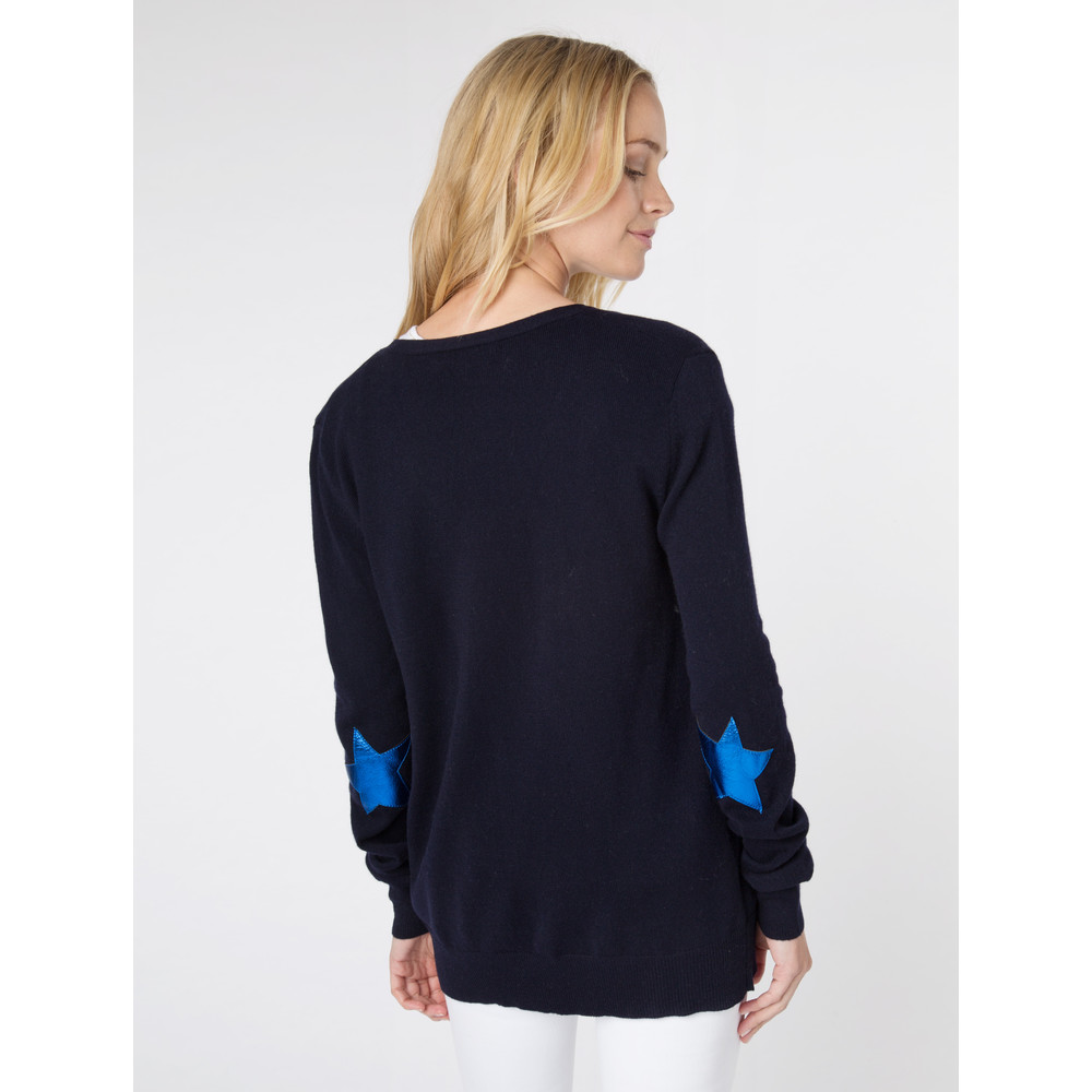 Wyse London Juliet Star Cardigan Navy/Cobalt