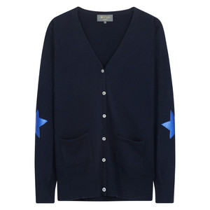 Juliet Star Cardigan Navy/Cobalt