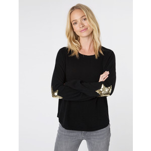 Flo Sequin Star Knit Black/Gold