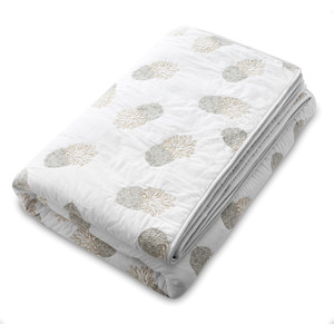 Ananas 100% Cotton Quilt - Kingsize White