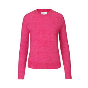 Eta Open Neck Sweater Fuchsia