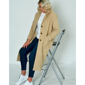 Bebvalley Long Coat with Pockets Desert