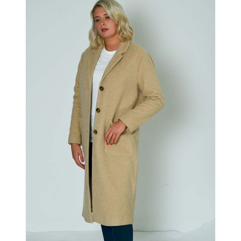 American Vintage Bebvalley Long Coat with Pockets Desert