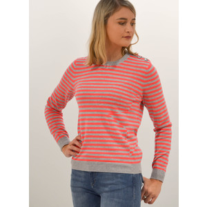 Striped Star Sweater Grey/Chili